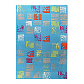 Esprit Cuadros Blue Woven Rug - 120 cm x 170 cm (3 ft 11 in x 5 ft 7 in)