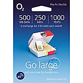 O2 4G £10 Big Bundle Pay as you go SIM Card