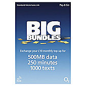 O2 4G £10 Big Bundle Pay as you go SIM Pack