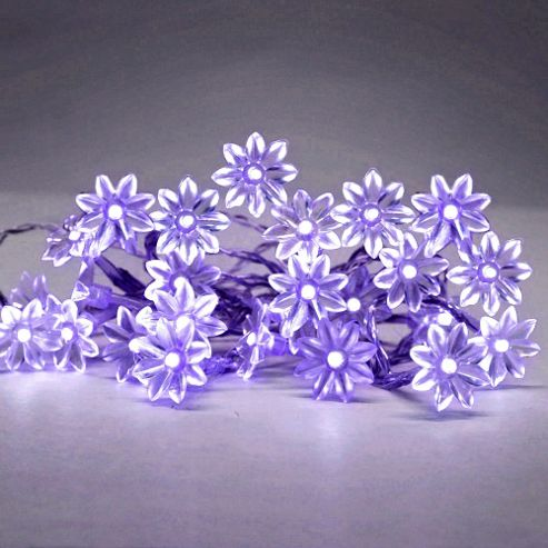 Led String Lights Tesco : Buy Set of 20 Battery Operated LED Sunflower String Fairy Lights, Purple from our Novelty ...