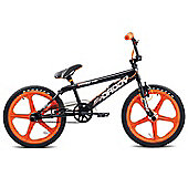 "11"" Rooster Big Daddy, 20"" Orange Skyway Mags, Black"