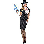 Female Gangster Costume Large
