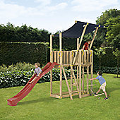 Blue Rabbit Mezzanine Climbing Frame - Red