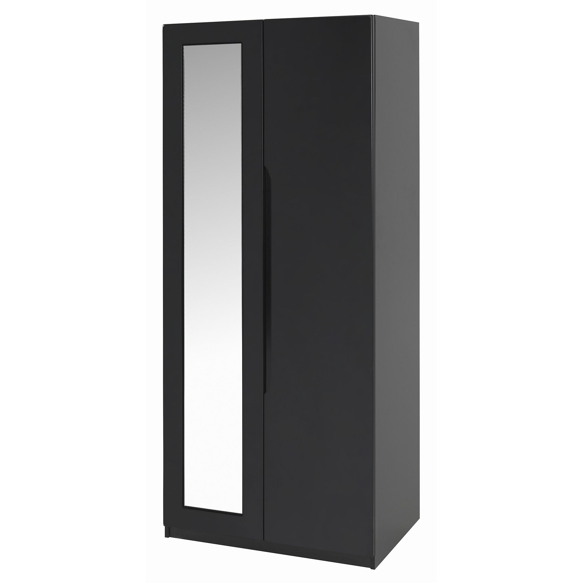 Alto Furniture Visualise Orient Wardrobe with Mirror in High Gloss Black at Tesco Direct