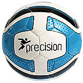 Precision Santos Training Ball White/Cyan Blue/Black Size 5