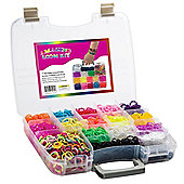 Amazing Loom Bands Kit Complete Collection Organizer Storage Kit with Handle Includes 3,600 Bands +325 Clips +6 Charms