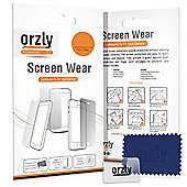 Orzly 5 in 1 Plastic Screen Protector Multi-Pack for Samsung Galaxy A3