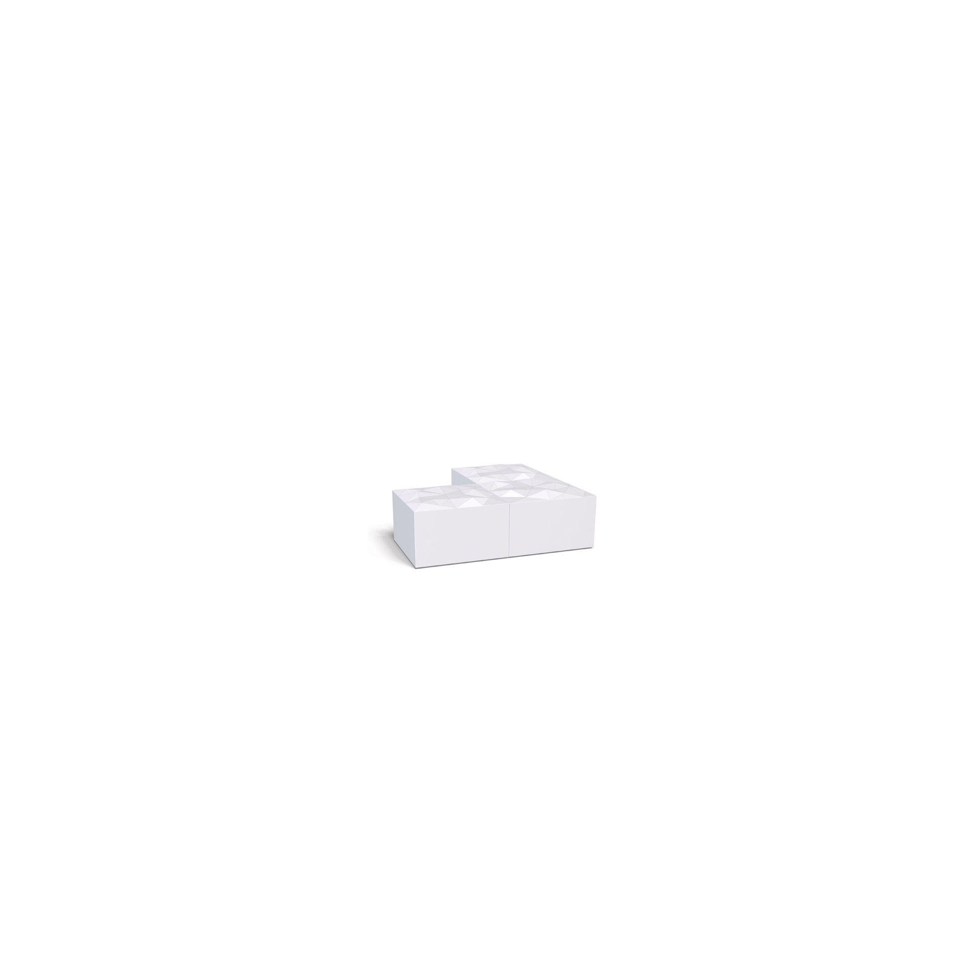 COVO Angolo Pouffe - White at Tesco Direct