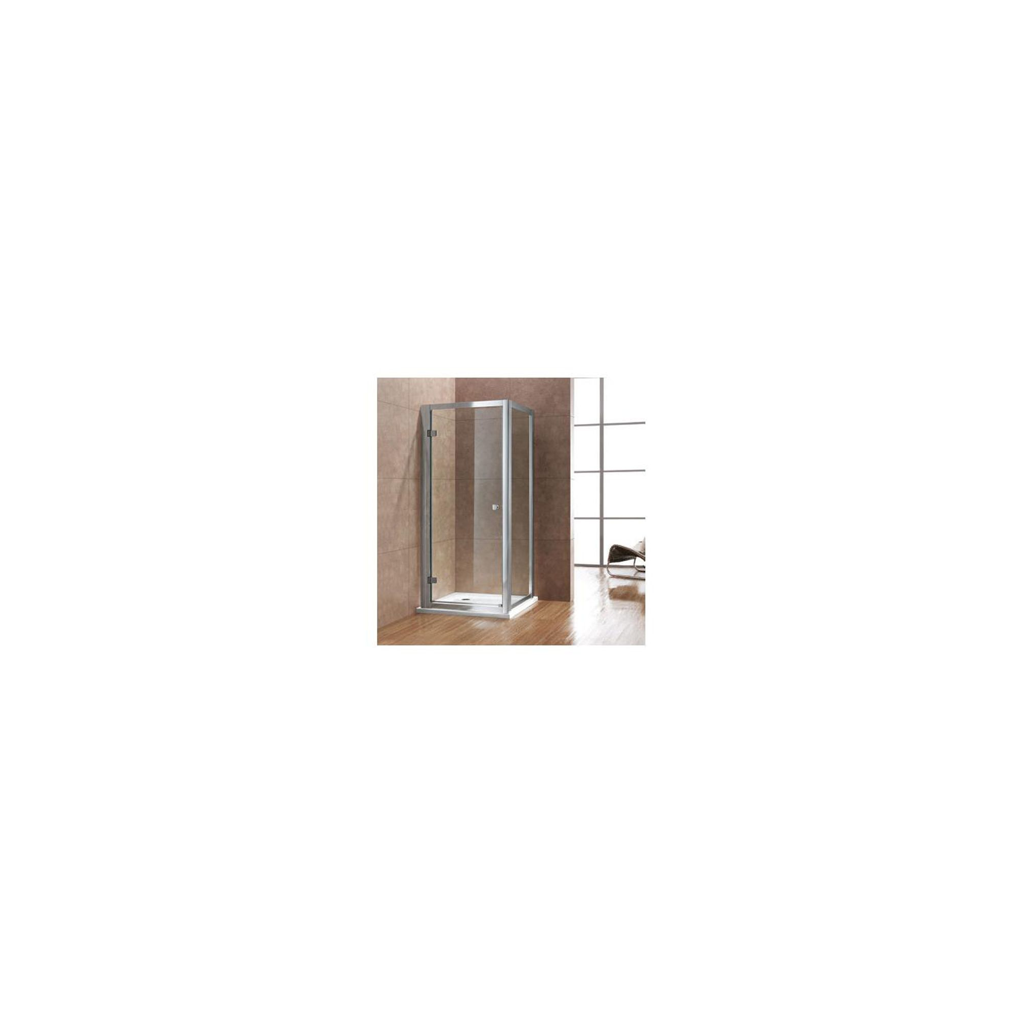 Duchy Premium Hinged Shower Door, 1000mm Wide, 8mm Glass at Tesco Direct