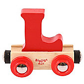 Bigjigs Rail Rail Name Letter L (Red)