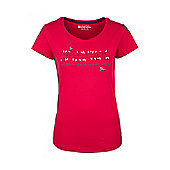 Birds On a Wire Womens Breathable Lightweight 100% Cotton Tee Shirt T-Shirt - Red