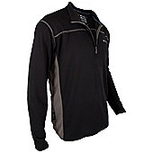 Hiker Outdoor Walking Hiking Mens Long Sleeve Top - Black