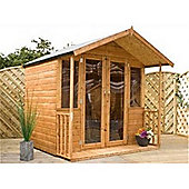 7ft x 7ft Bedford Summerhouse + Verandah (Fully Glazed Doors)
