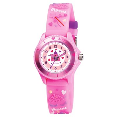 Tikkers Pink Princess And Castle Watch