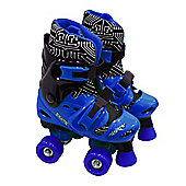 Elektra Quad Boot Skates Size 13j to 2 Blue