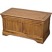 French Chateau Rustic Solid Oak Blanket Box