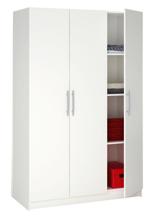 Altruna Washington 3 Door Wardrobe - White