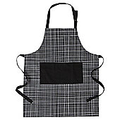 Tesco Basics Check Apron, Black & White