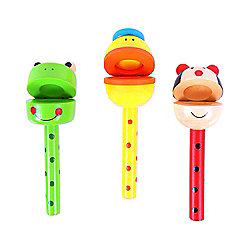 Bigjigs Toys Animal Clacker Sticks (Pack of 3)