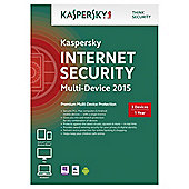 Kaspersky Internet Security 2015, Multi Device, 3 Devices, 1 Year, CD