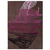 Esprit Feather Brown / Purple Novelty Rug - 140cm x 200cm