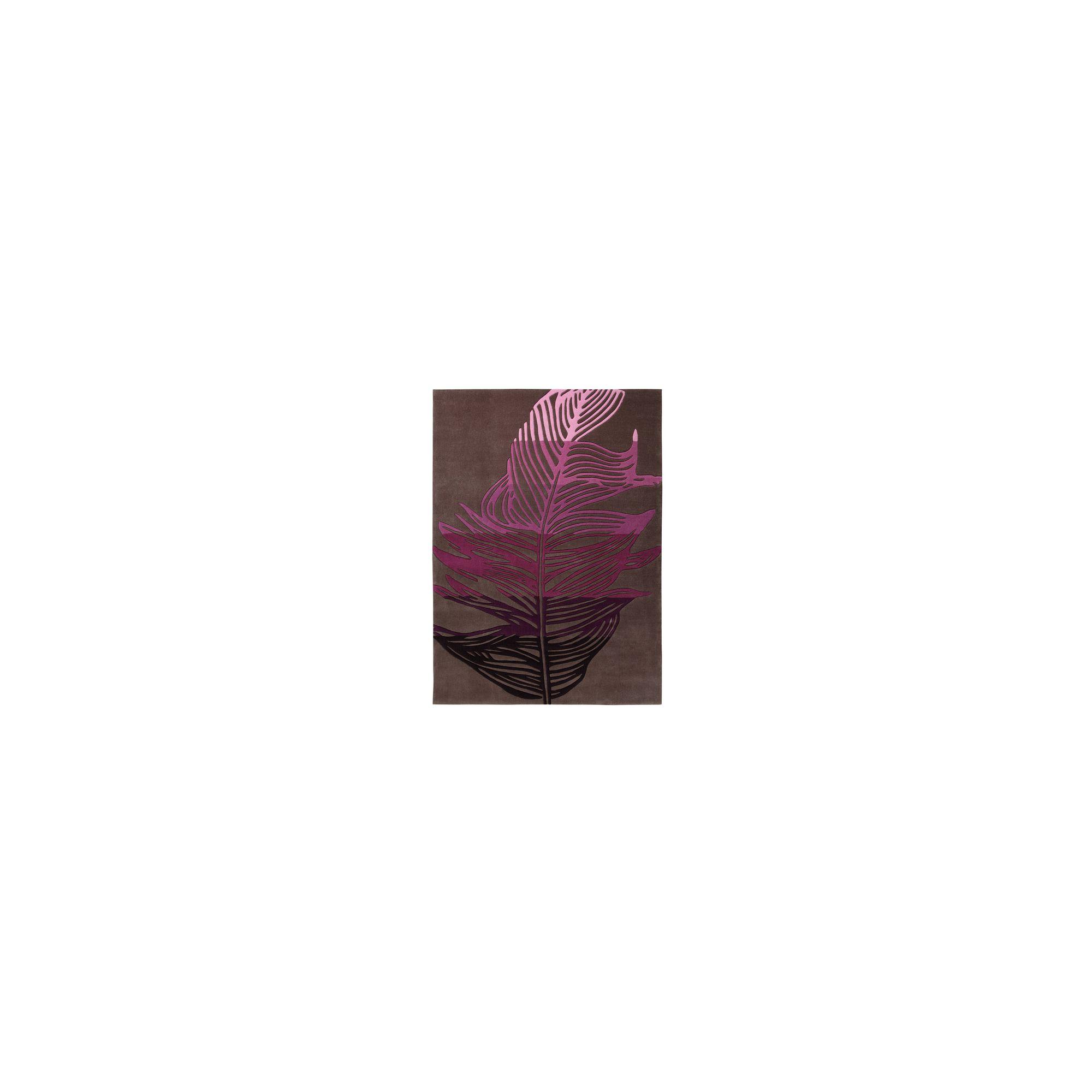 Esprit Feather Brown / Purple Novelty Rug - 140cm x 200cm