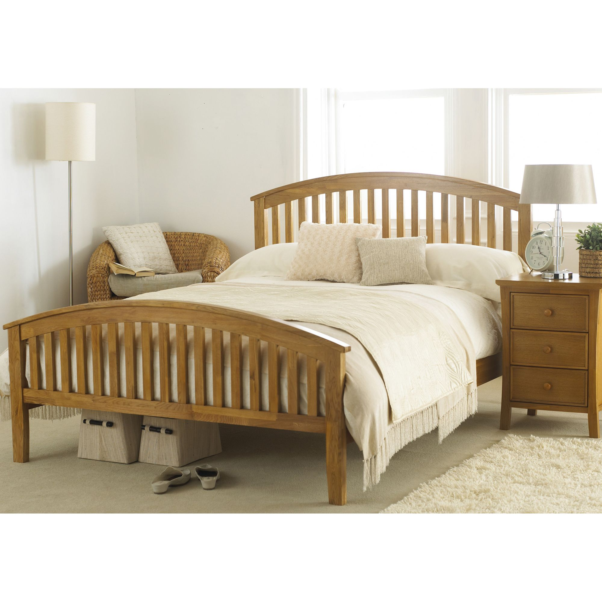 Hyder Torino Oak Bed - Double at Tesco Direct