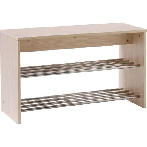 buy hallway shoe storage unit light oak silver from. Black Bedroom Furniture Sets. Home Design Ideas