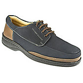 Pavers Leather Lace Up Shoe with Cushioned Support Black - 10 - Blue