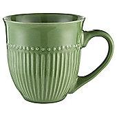 Tesco Green Ribbed Mug Single