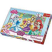 Disney Princess Resting in the Garden Maxi Puzzle - 24 Pieces
