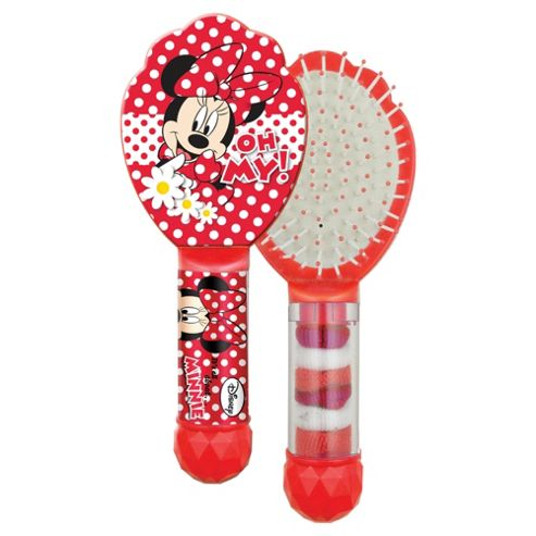 Disney Minnie Hair Brush & 6 Hair Bands