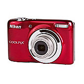 DS-Nikon Coolpix L25 Digital Camera, Red, 10MP, 5x Optical Zoom, 3.0 inch LCD Screen