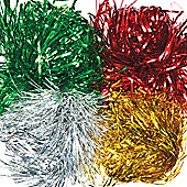 Metallic Shredded Foil in 4 Assorted Colours Perfect for Christmas Arts & Crafts Gift Wrapping and Xmas Decorations (Pack of 72g)
