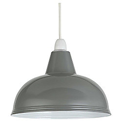 Thorpness Small Metal Pendant Shade, Stone