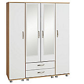 Ideal Furniture Regal Mirror Wardrobe