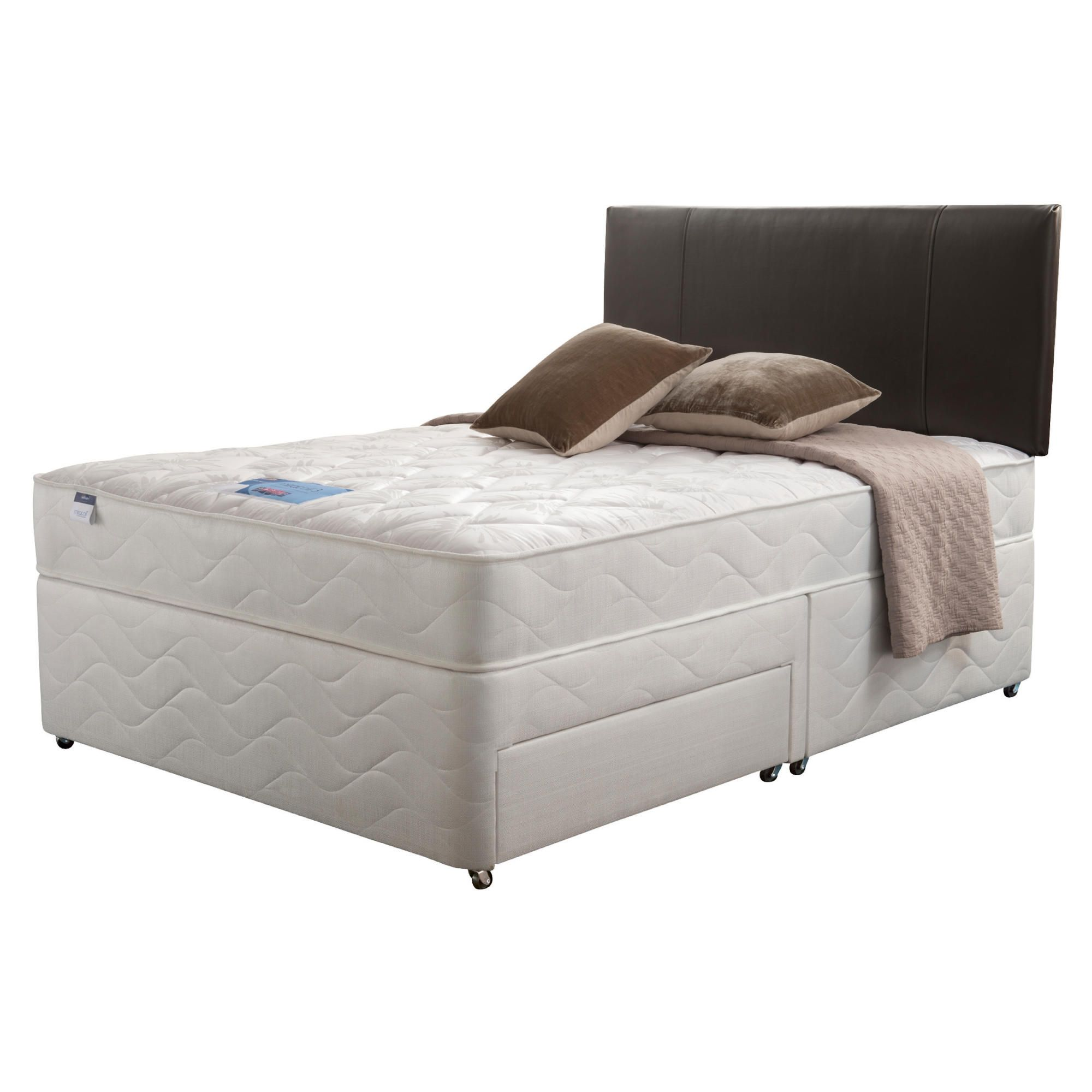 Silentnight Miracoil Kingston King Non Storage Divan set at Tescos Direct