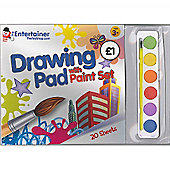 The Entertainer Drawing Pad with Paints