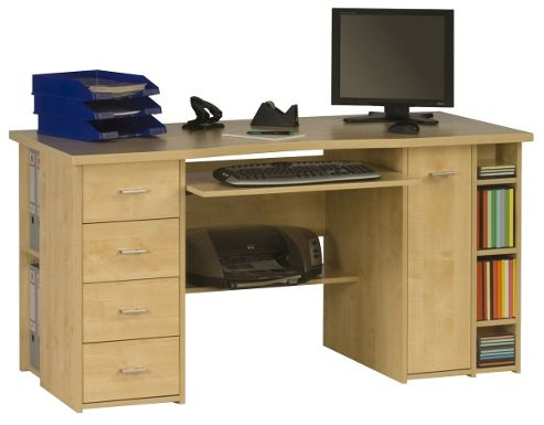 Buy maja banbury maple computer desk from our office desks tables range tesco - Tesco office desk ...