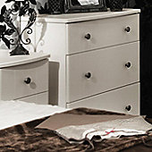 Welcome Furniture Kingston 3 Drawer Deep Chest - Cream