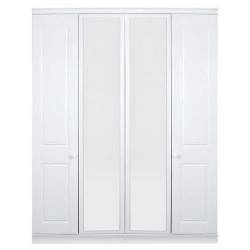 Caxton Henley Four Door Wardrobe in White