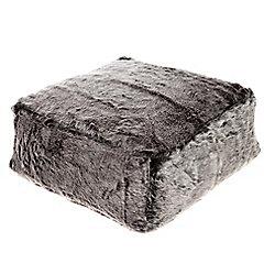 Kaikoo Faux Fur Floor Slab, Grey