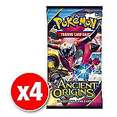 Pokemon X & Y Ancient Origins Booster (4 packs supplied)