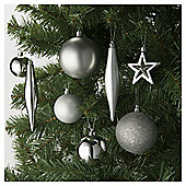 Luxury Silver Christmas Baubles, 100 pack