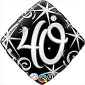18' 40th Elegant Sparkles & Swirls (each)