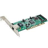 32-bit PCI. 10/100/1000Mbps autosense. Full Duplex. TP connector