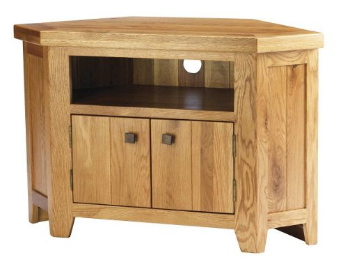Solid American Oak Corner TV Unit for up to 42 inch TVs