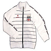 Respect England Kids Football Tracksuit Jacket - White