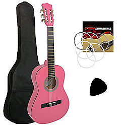 Jasmin 1/2 Size Kids Classical Guitar Pack in Pink
