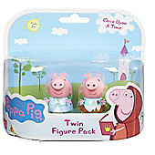 Peppa Pig Once Upon A Time Twin Figure Pack- Princess Peppa & Peppa In Rags